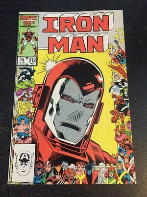 Iron Man#212 Incredible Condition 8.5(1986) Anniversary Cover!!