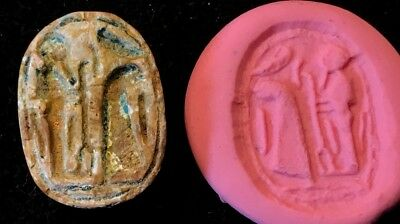 Ancient Egyptian Steatite Scarab Late Ramesside Period Ptah Of Memphis, 1069 Bc