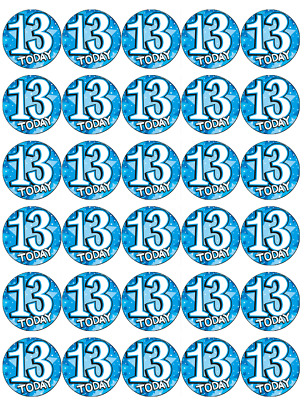 Boy Teenager BLUE AGE 13 Teen Table Confetti 13th Birthday 14g Party Sprinkles
