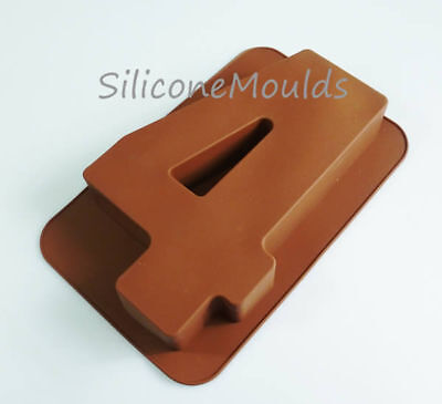 Large Silicone Number 4 FOUR Age Cake Tin Mould Birthday Anniversary Baking Pan
