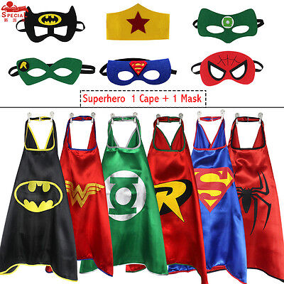 Kids Dress Up Costumes Superhero Capes Masks for Birthday Party Favors and ideas