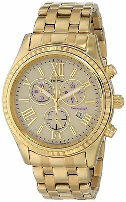 CITIZEN FB1362-59P Eco-Drive Chronograph Gold Stainless Steel Date Ladies Watch