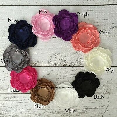 20PCS 5.5CM Gorgeous Burned Fabric Flowers With Tissue Stamen