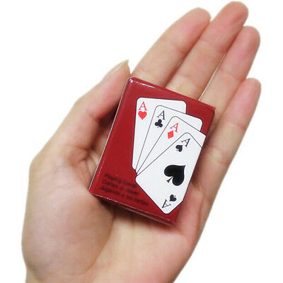 HK- Mini Pocker Plated Playing Cards Texas Poker Art Outdoor Leisure Game Health