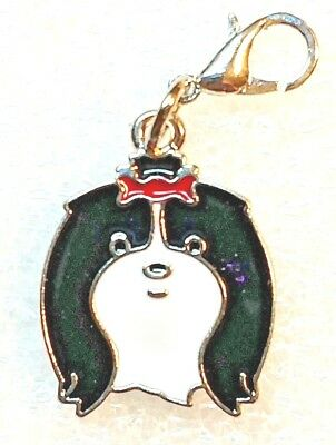 Tibetan Terrier Dog Black White Bag Purse Charm Dangle Zipper Pull Jewelry
