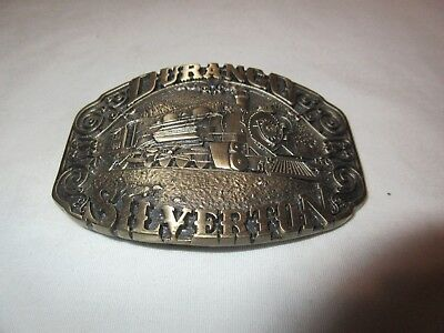 Durango Silverton Railroad Train 481 Award Design Medals Solid Brass Belt Buckle