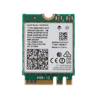 Dual Band Wireless Wifi NGFF Card For Intel 8265 AC AC8265 8265NGW M.2 2.4/5GHz