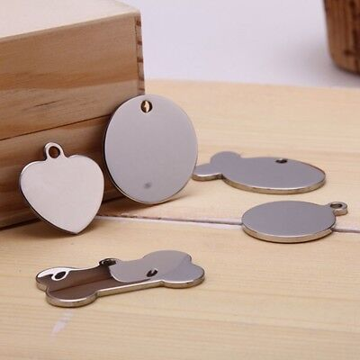 Stainless Steel Dog Tag Cat Tag Pet ID Name Tag Do NOT Engrave