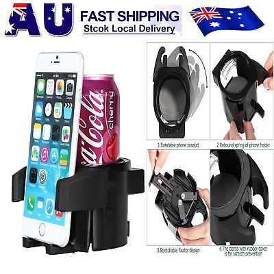 2in1 Car Air Vent Cup Bottle Holder Adjustable Drink Stand with Cell Phone  AU