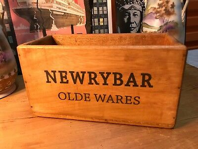 Vintage Style Newrybar Old Wares Handy Carry Storage Box Home Shop Display