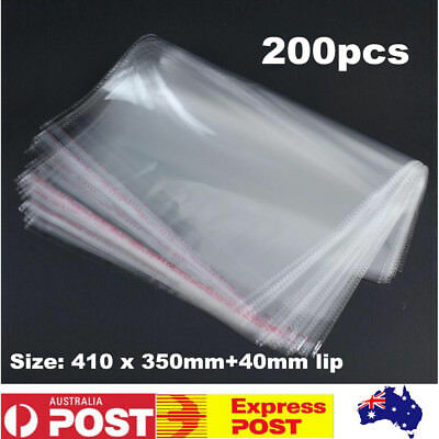 200pcs A3 Self-Adhesive Clear Cellophane Bags  Plastic Cello Bags Bakery Cookie