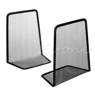 1 Pair of Metal Mesh Book Ends Perfect for Home School or Office Desktop Bookend