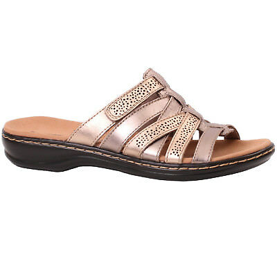 2aab9d81b5 Women's Clarks LEISA FIELD 26134089 Metallic Multi Slip-on Slide Sandal  Shoes