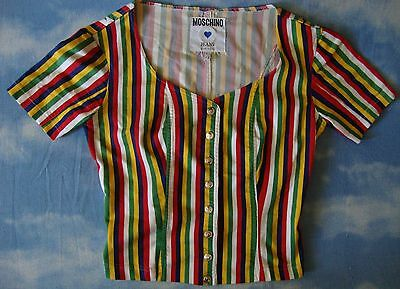SHIRT bluse woman vintage 80's woman MOSCHINO JEANS made in Italy TG.42-S/M