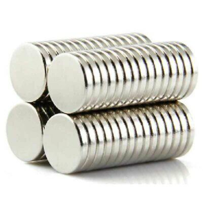 200Pcs N52 12x2mm Super Strong Round Disc Magnets Rare-Earth Neodymium Magnet