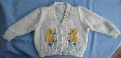 Baby Hand Knitted Jacket With Chicken Motifs (10)