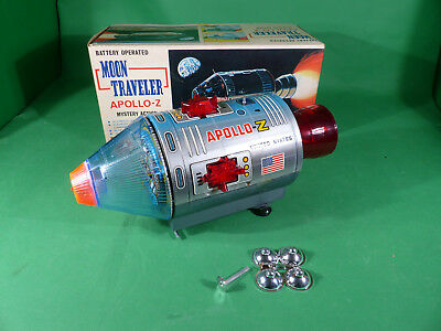 T.N. Japan - Moon Traveller Apollo Z Space Toy in Box    - 1960er Jahre - 30cm
