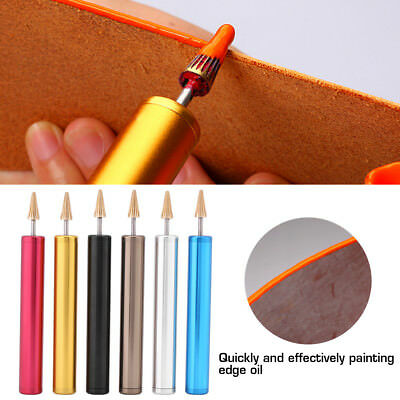Pro Leather Craft Edge Dye Oil Pen Applicator Belt Strap Edge Paint Roller Tools