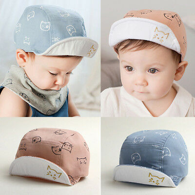 Toddler Baby Kids Hats Boys Girls Outdoor Bongrace Hat Sports Sun Peak Caps