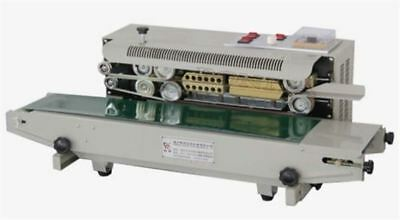 Automatic Continuous Plastic Bag Band Sealing Machine W/ Date Code Sealer 220 vb