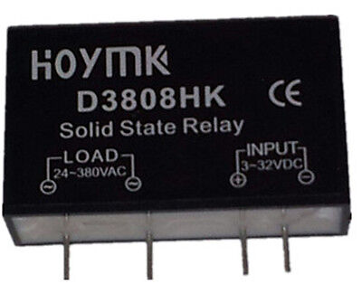 Q00132 PCB Dedicated with Pins Hoymk SSR-D3808HK 8A DC-AC Solid State Relay SSR