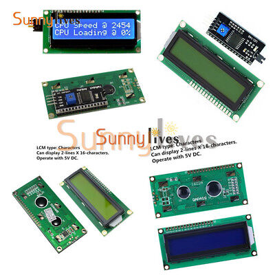 LCD Display Module LCM blue blacklight Character 1602 16x2 HD44780 3.3V 5V