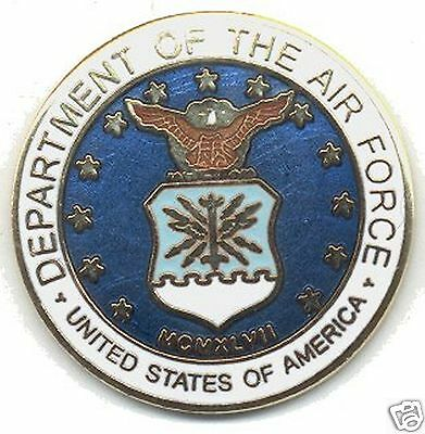 US Air Force 14 CT Gold Plated Cloisonne Lapel Pin
