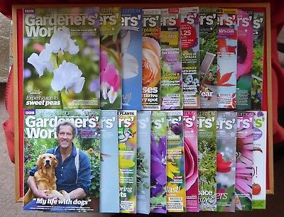 Collection of Gardeners' World Magazines 2015 and 2016 21 issues in total