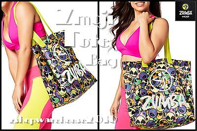 "Zumba JUMBO TOTE BAG -Gym-Travel-Stylish-DURABLE! fr.Convention-19""L x16""H+6""Pkt"
