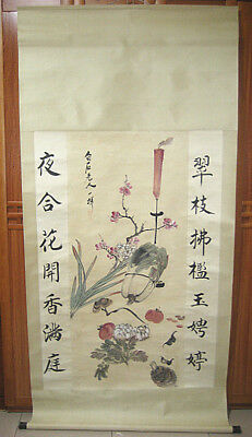 Chinese 100% Hand painted Landscaoe Scroll Painting  by Zhang Daqian(张大千)  苍山
