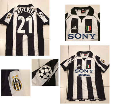 Juventus Zidane 1997 1998 Centenary Home Football Shirt Jersey France Medium 40 00 Picclick Uk