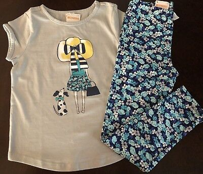 NWT Gymboree Outlet Girl Mix'n'Match Sun Hat Girl Tee/Leggings Outfit 5 6 7 8 10