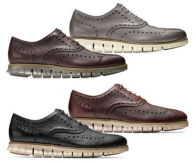 916ee5a008d13d Men Cole Haan Zerogrand Wingtip Oxford Shoes Leather Brogue Oxfords NEW