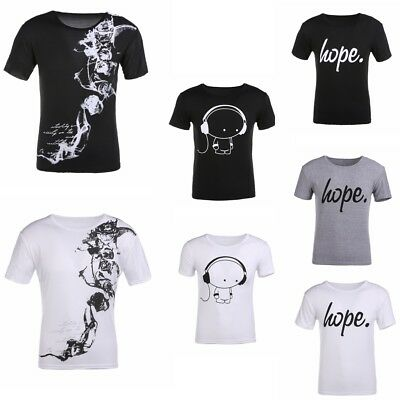 Fashion Men's O Neck Short Sleeve Muscle Casual Tee Shirt T-shirts Tops Gift Lot