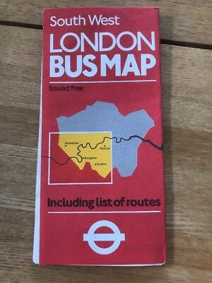 SOUTH WEST London Bus Guide September 2010 perfect condition 075