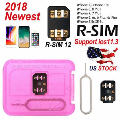 Lot RSIM 12+ 2018 R-SIM Nano Unlock Card Fits iPhone X 8 7 6 6s 5S  4G iOS 10-12