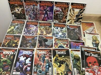 Marvel Comics New Secret Wars & Battleworld Comic Book Lot Of 24! Pics!