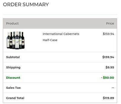 Wine Winsders $50 Gift card on order over $75. Please see detail