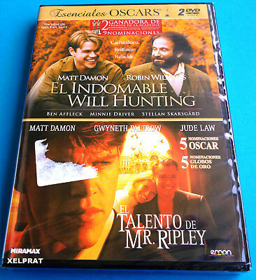 EL INDOMABLE WILL HUNTING / EL TALENTO DE MR RIPLEY - Matt Damon -DVD R2- Precin