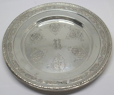 "Towle Louis Xiv 5435 Sterling Silver Bread Plate Monogrammed ""H"" #89057-13Dbw"