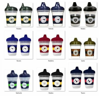 NFL 5oz Spill Proof Sippy Cups 2-Pack by baby fanatic -Select- Team Below