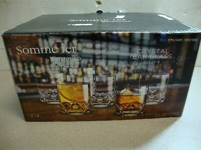 Sommelier by Waterford Double Old Fashioned Crystal Glasses Set of Six