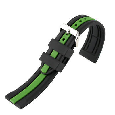 20mm/22mm/24mm Silicone Watch Strap Band Waterproof Belt + Spring Bars
