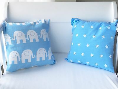 "12"" Handmade Cushion Cover Blue Stars 💙🌟"