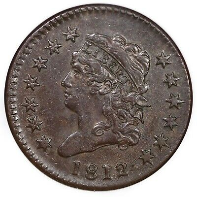 1812 S-289 NGC AU 53 Lg Date Classic Head Large Cent Coin 1c
