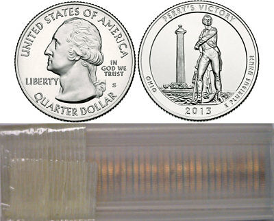 2013-S Perry's Victory ATB National Parks Quarters 40 Coin Roll Uncirculated