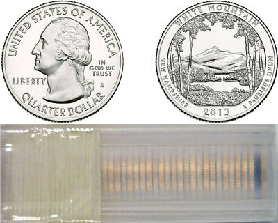 2013-S White Mountains ATB National Parks Quarters 40 Coin Roll Uncirculated