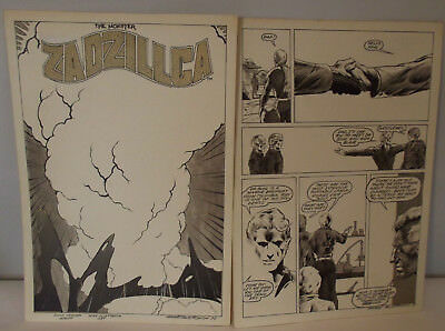 Bronze Age 1977 Original Comic Art Mike Gustovich The Monster Zadzillca 8 Pages