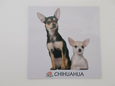Large Rectangular Dog Breed Fridge Magnet- Chihuahua 2 Dogs- Breed Specific,Pet