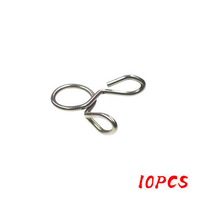 10 Pcs 8mm Fuel Line Hose Tubing Spring Clip Clamp Fit Motorcycle Scooter ATV